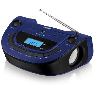Аудиомагнитола MP3 BBK BS07BT темно-синий