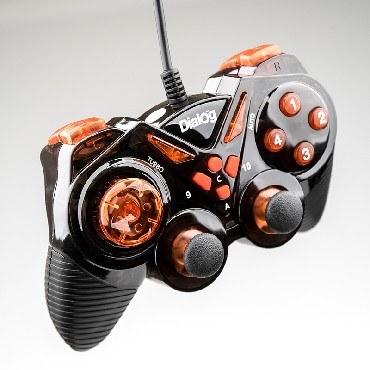Геймпад DIALOG GP-A13 Action - вибрация, 12 кнопок, USB, черно-красный