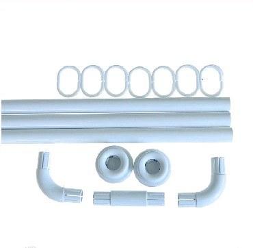 Карниз в ванную комнату САНАКС 10008 Карниз в ванную угловой белый 0.9х0.9х0.9 (2)