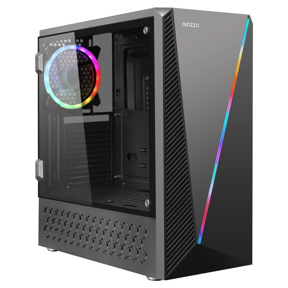 Корпус GINZZU SL200 RGB без БП