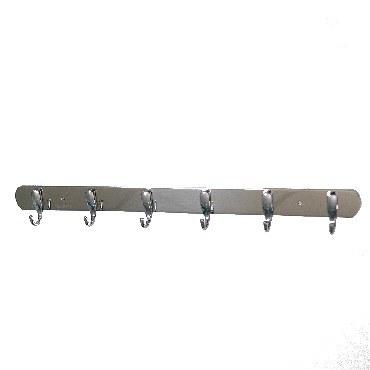 Крючок BRIMIX 576 Крючок для полотенца на планке 6шт нержавейка хромированная