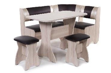 Набор мебели для кухни БИТЕЛ Набор мебели для кухни ТЮЛЬПАН Ясень/Шоколад С-221 Бежевый С-101 (4 кор)