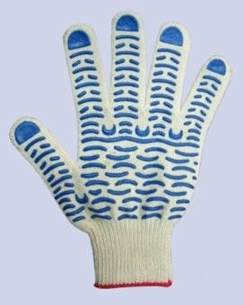 Перчатки REXANT (09-0201) Х/Б с покрытием ПВХ (ВОЛНА)