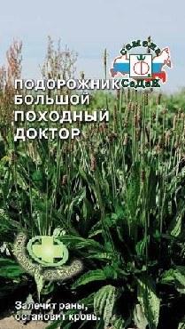 Семена СЕДЕК пряность Подорожник Походный Доктор большой (лек.) ц/п (10)