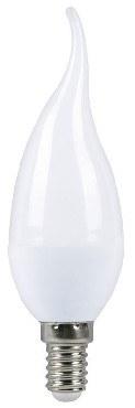 Светодиодная лампа SMARTBUY C37-05W/3000/E14 свеча на ветру матовая (10)