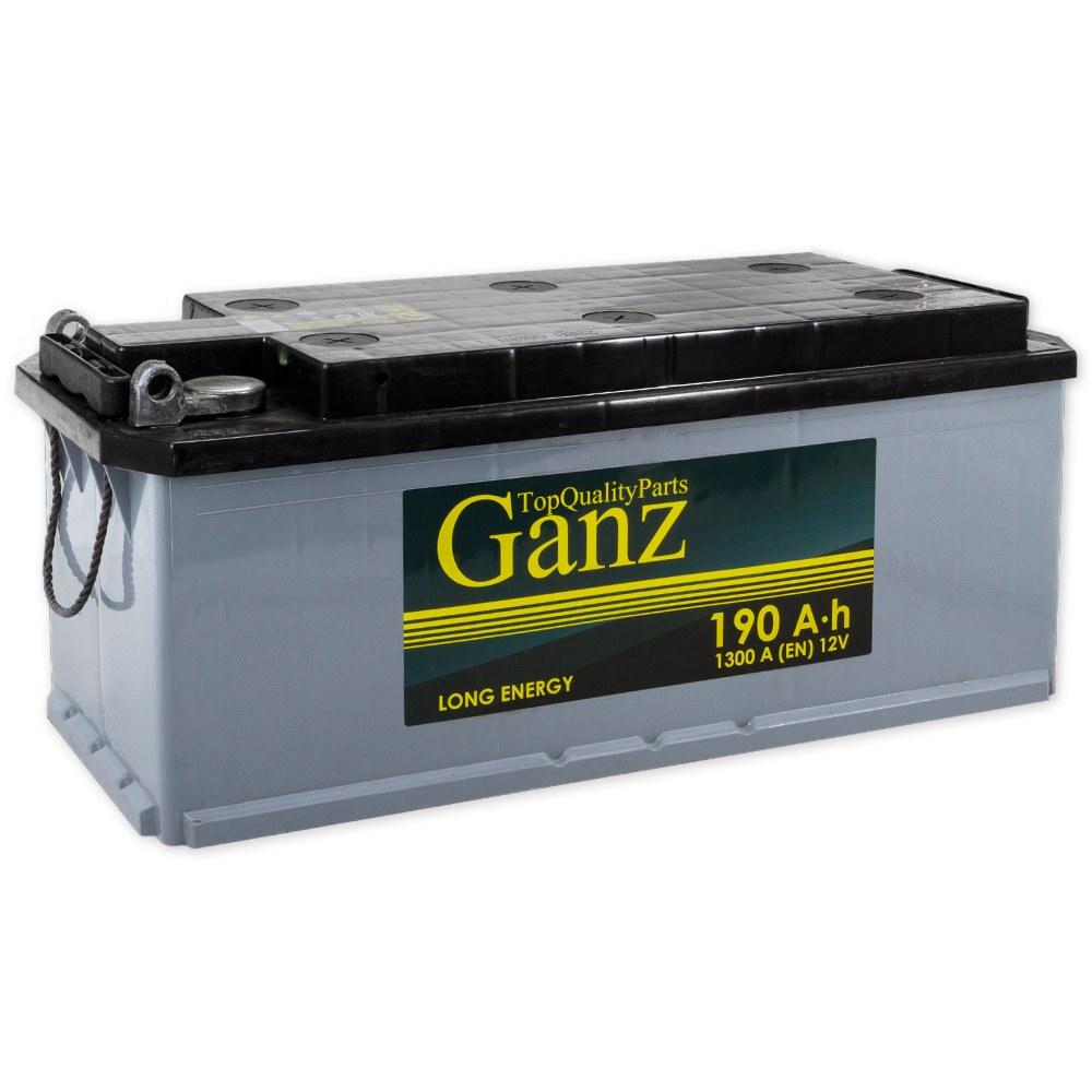 Аккумулятор GANZ 190.4 А/ч R+ 514х218х210 EN1300 GAT1904 под болт GANZ GAT1904