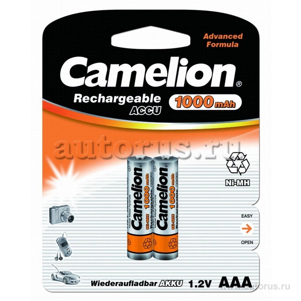 Батарейка Аккумуляторная,1.2В camelion aaa-1000mah ni-mh bl-2