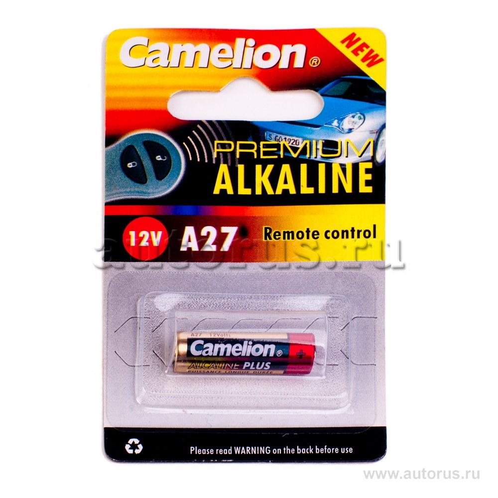 Батарейка алкалиновая для сигнализации тип A27 12В 1шт Camelion Plus Alkaline LR27A-BP1