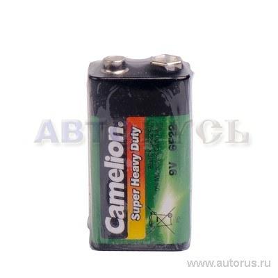 Батарейка солевая 9В 1шт Camelion Super Heavy Duty 6F22-SP1G