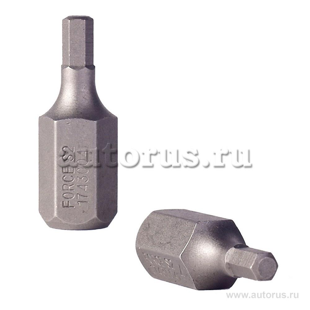 Бита HEX шестигранник 4мм L 30мм 1/2DR FORCE 1743004