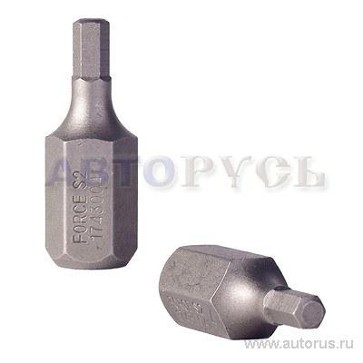 Бита HEX шестигранник 6мм L 30мм 1/2DR FORCE 1743006