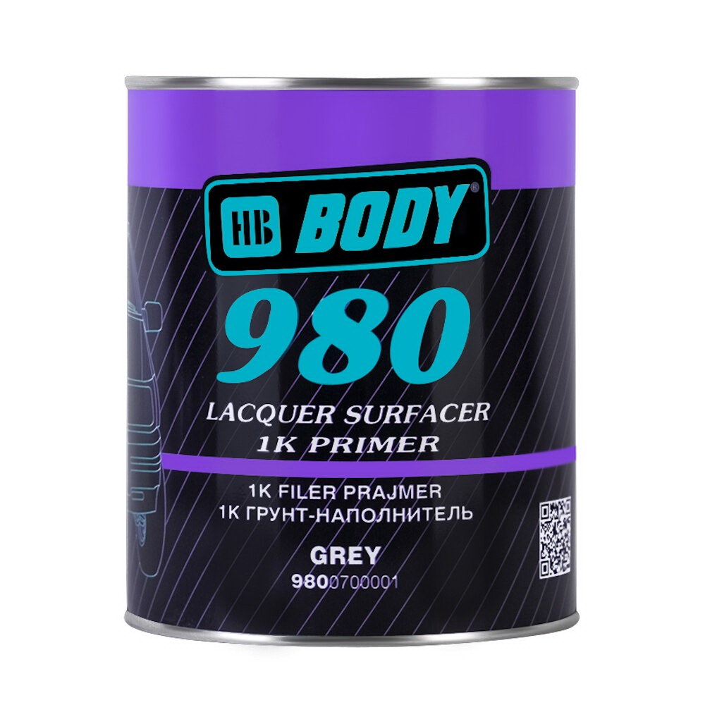 Грунт серый BODY 980, 1кг