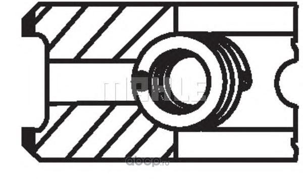 Кольцапоршневые (комплектна1цилиндр) FIAT/OPEL/SAAB /D=82mm STD KNECHT/MAHLE 00981N0