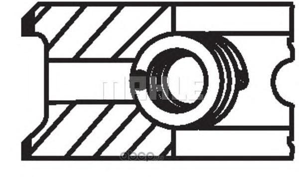 Кольцапоршневые (комплектна1цилиндр) FIAT/VAZ /D=76,4mm STD+0,4mm KNECHT/MAHLE 008 56 N1