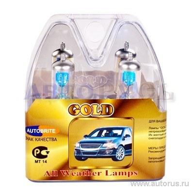 Лампа 12V H4 60/55W AUTOBRITE GOLD 2 шт. DUOBOX ABH412V60GOLD