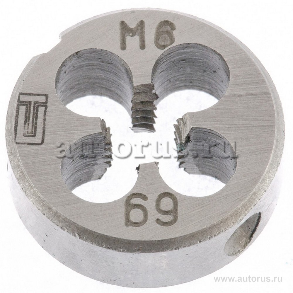 Плашка круглая метрическая М6x1,0мм СИБРТЕХ 77017