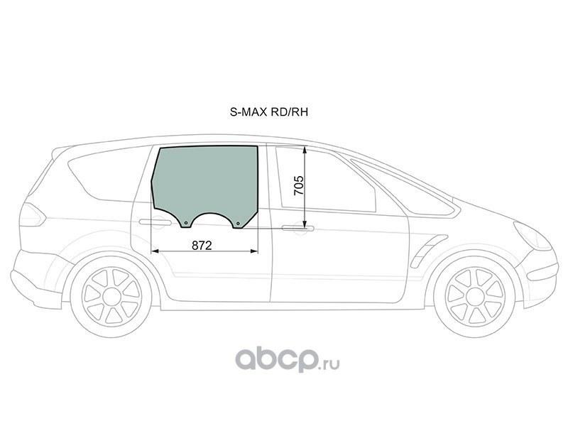 Стекло заднее правое опускное ford s-max 2006-