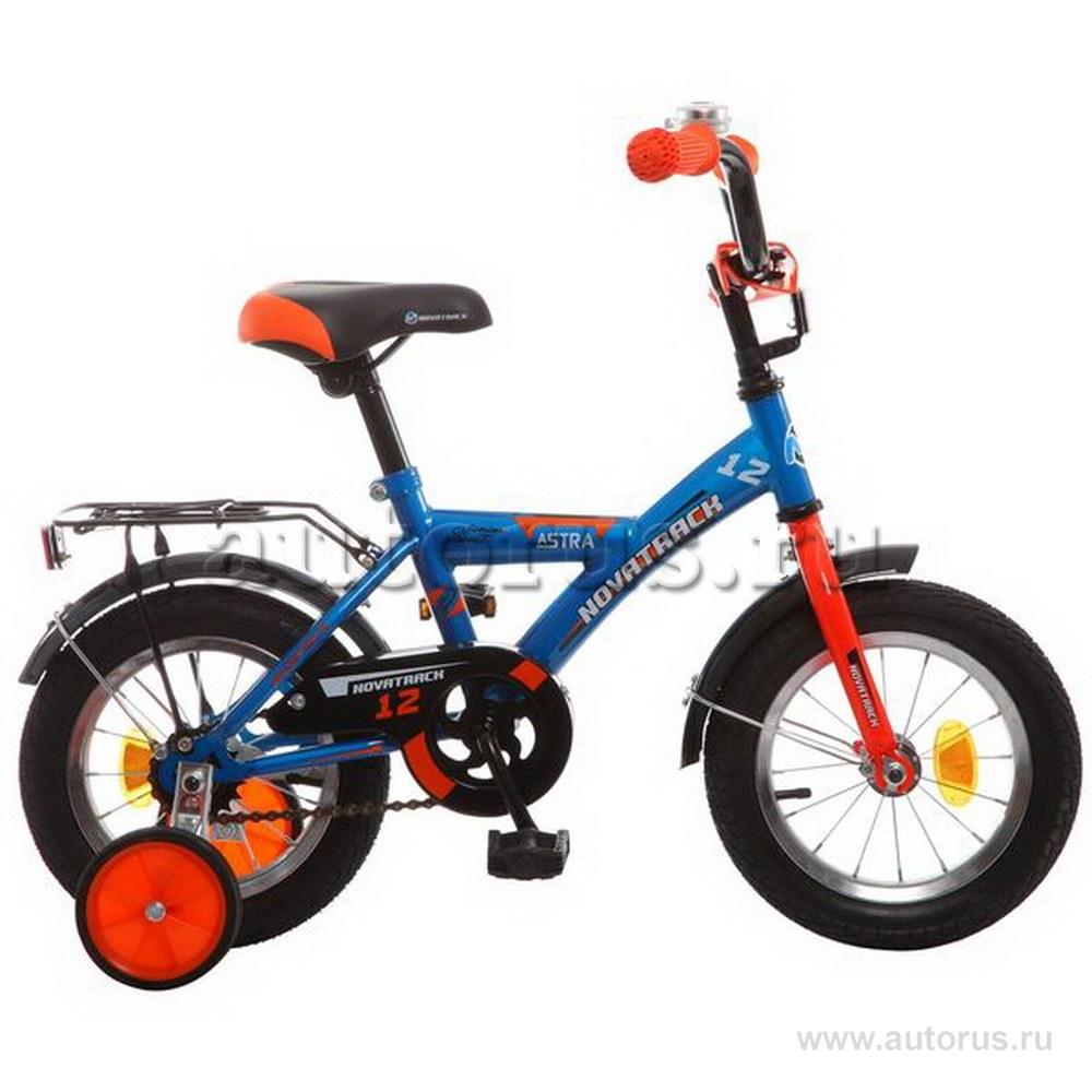 Велосипед 12 детский Novatrack Astra (2019) количество скоростей 1 рама сталь синий