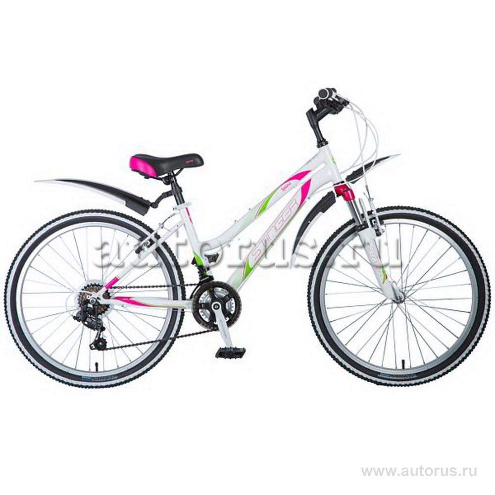 Велосипед 24 подростковый STINGER Latina (2018) количество скоростей 12 рама сталь 14 белый TY21/TZ30/TS38 24SHV.LATINA.14WH8