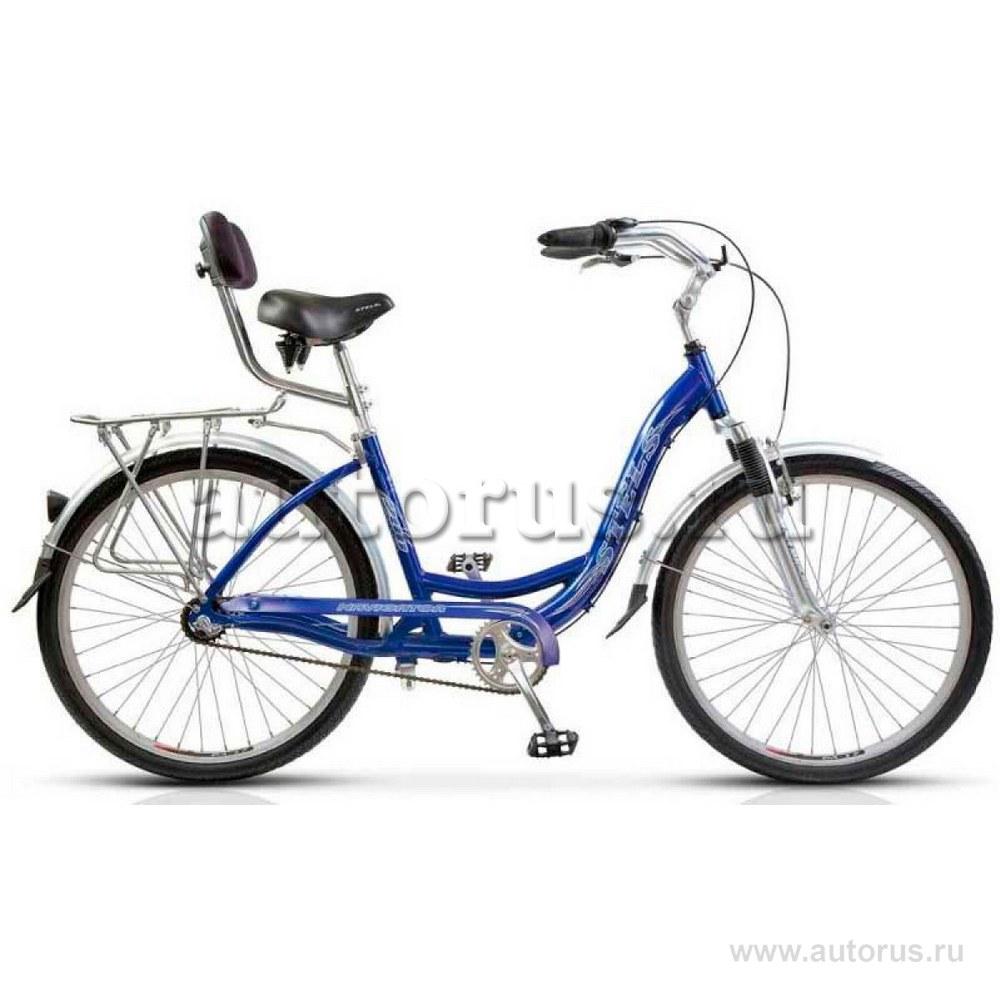 Велосипед 26 дорожный STELS Navigator 290 (2019) количество скоростей 1 рама сталь 18,5 синий/голубой
