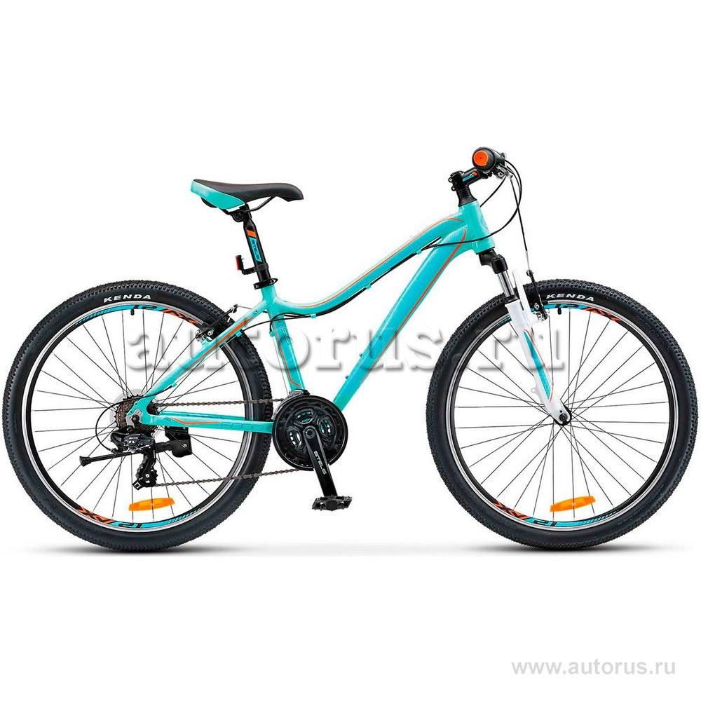 Велосипед 26 горный STELS Miss 6000 V (2018) количество скоростей 18 рама алюминий 17 морская-волна/оранжевый