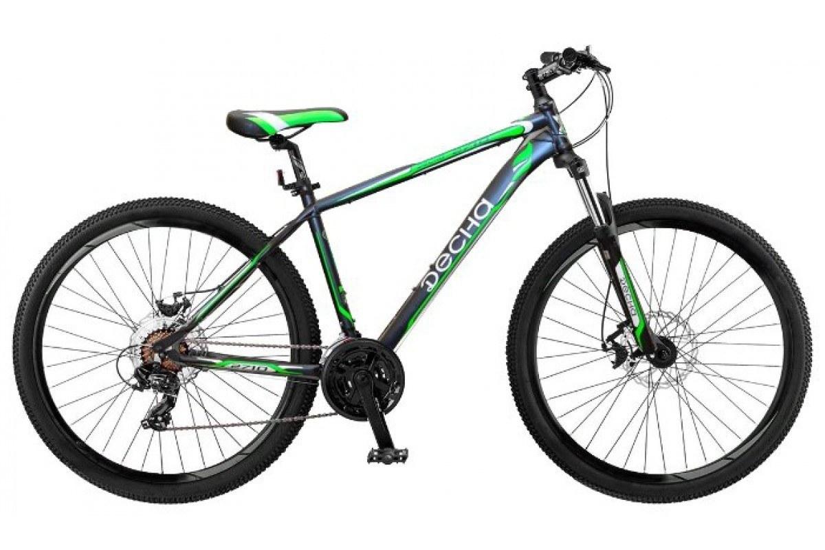 Велосипед 27,5 горный STELS Десна 2710 V (2017) количество скоростей 21 рама сталь 17,5 антрацитовый