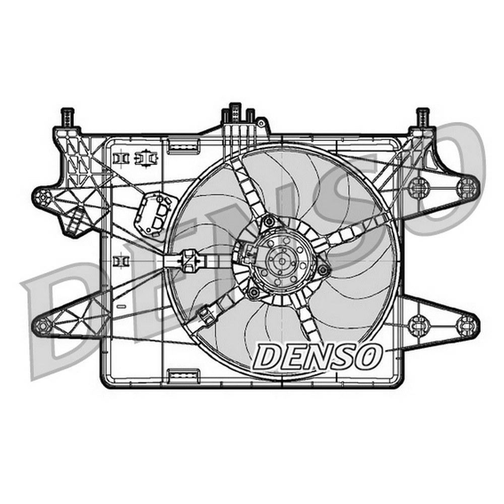 Вентилятор охлаждения DENSO DER09081