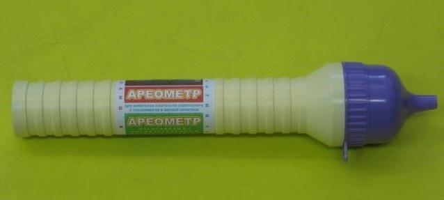 Ареометр в сборе в тубе с лейкой (электролит, тосол, С-Пб)